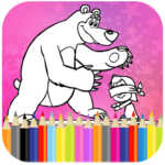 Coloring Book For Kids : Little Girl and Bear Mod Apk