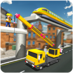 Elevated Train Track Builder : Subway Craft 2018 Mod Apk 1.0.4