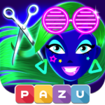 Girls Hair Salon Glow – Hairstyle games for kids Mod Apk 1.06