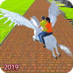 Flying Horse Taxi Driving: Unicorn Cab Driver Mod Apk 2.1.32