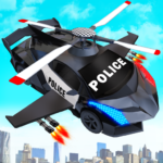 Flying Police Helicopter Car Transform Robot Games Mod Apk 14