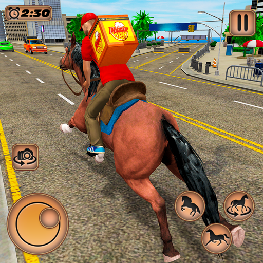 Mounted Horse Riding Pizza Guy: Food Delivery Game Mod Apk 1.0.5