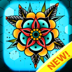 Tattoo color by number : Adult coloring book art Mod Apk 1.4