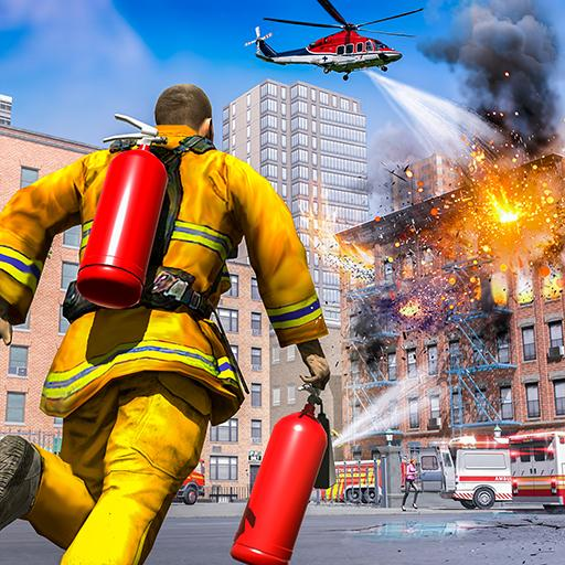 City Fire Fighter Airplane 911 Rescue Heroes Mod Apk 1.2