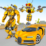Bee Robot Car Transformation Game: Robot Car Games Mod Apk 1.30