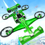 Flying Formula Car Games 2020: Drone Shooting Game Mod Apk 2.1