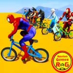 Superhero Bmx Racing Simulator game Mod Apk 1.7