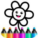 Toddler Drawing Academy! Coloring Games for Kids! Mod Apk