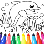 Dolphin and fish coloring book Mod Apk 15.9.6